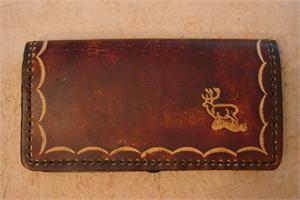 Leather Checkbook Covers - Animals