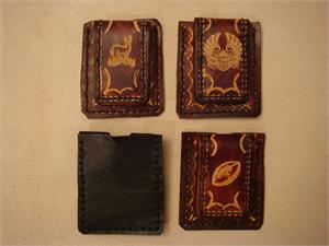 Leather Credit Card Magnetic Money Clips